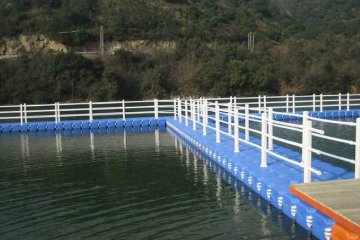 Use of pontoons