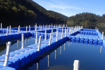 ограждане на водни пространства с понтони